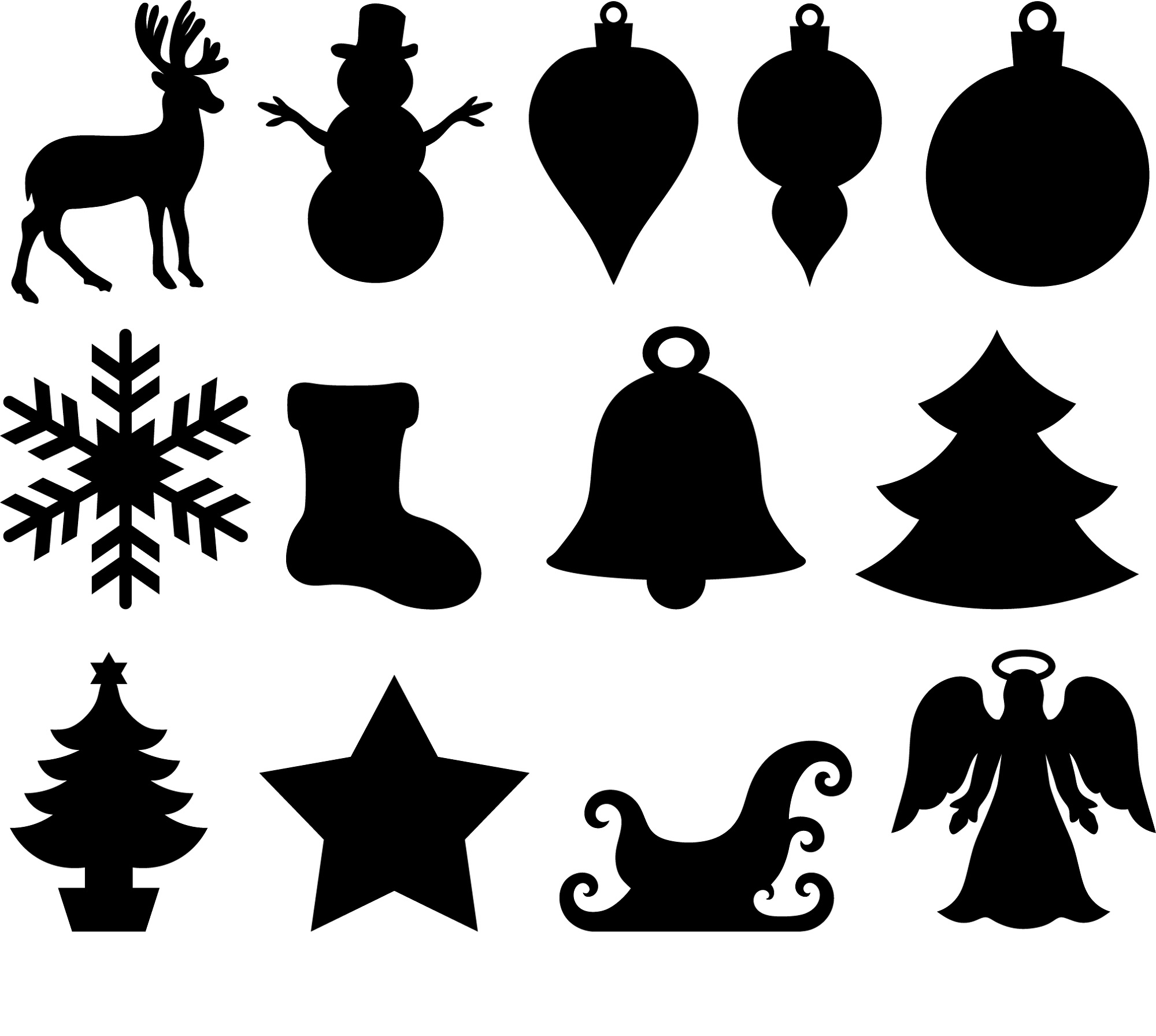 Printable Stencils Christmas