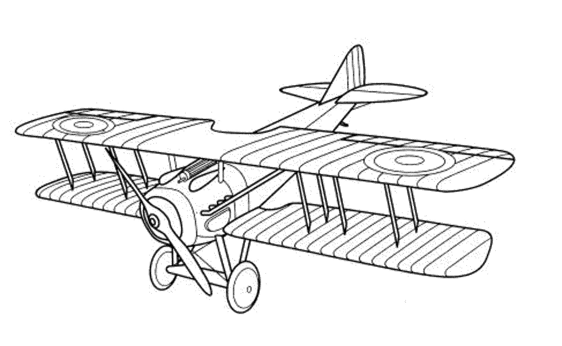 Vintage Planes Colouring Pages