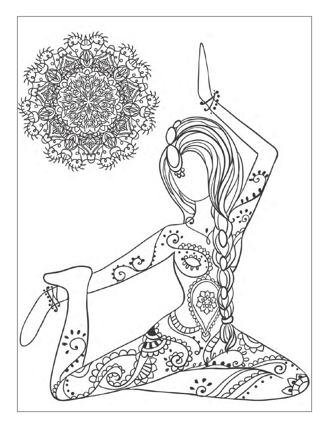 Yoga Coloring Pages For Adults