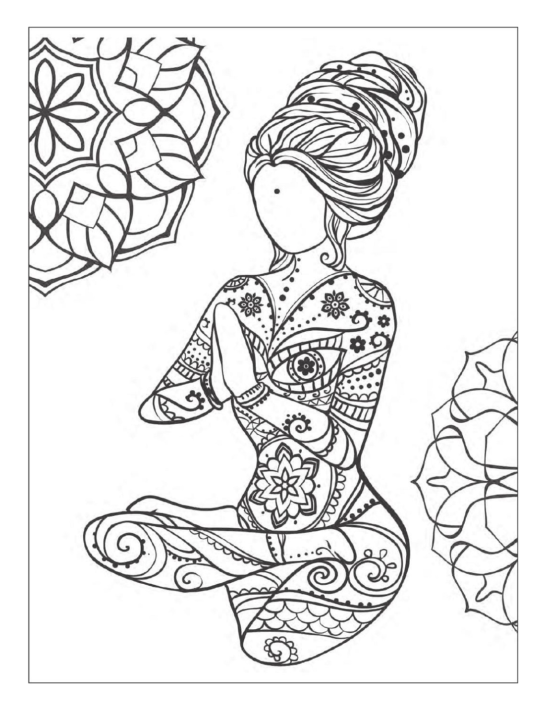 Yoga Coloring Pages Meditation