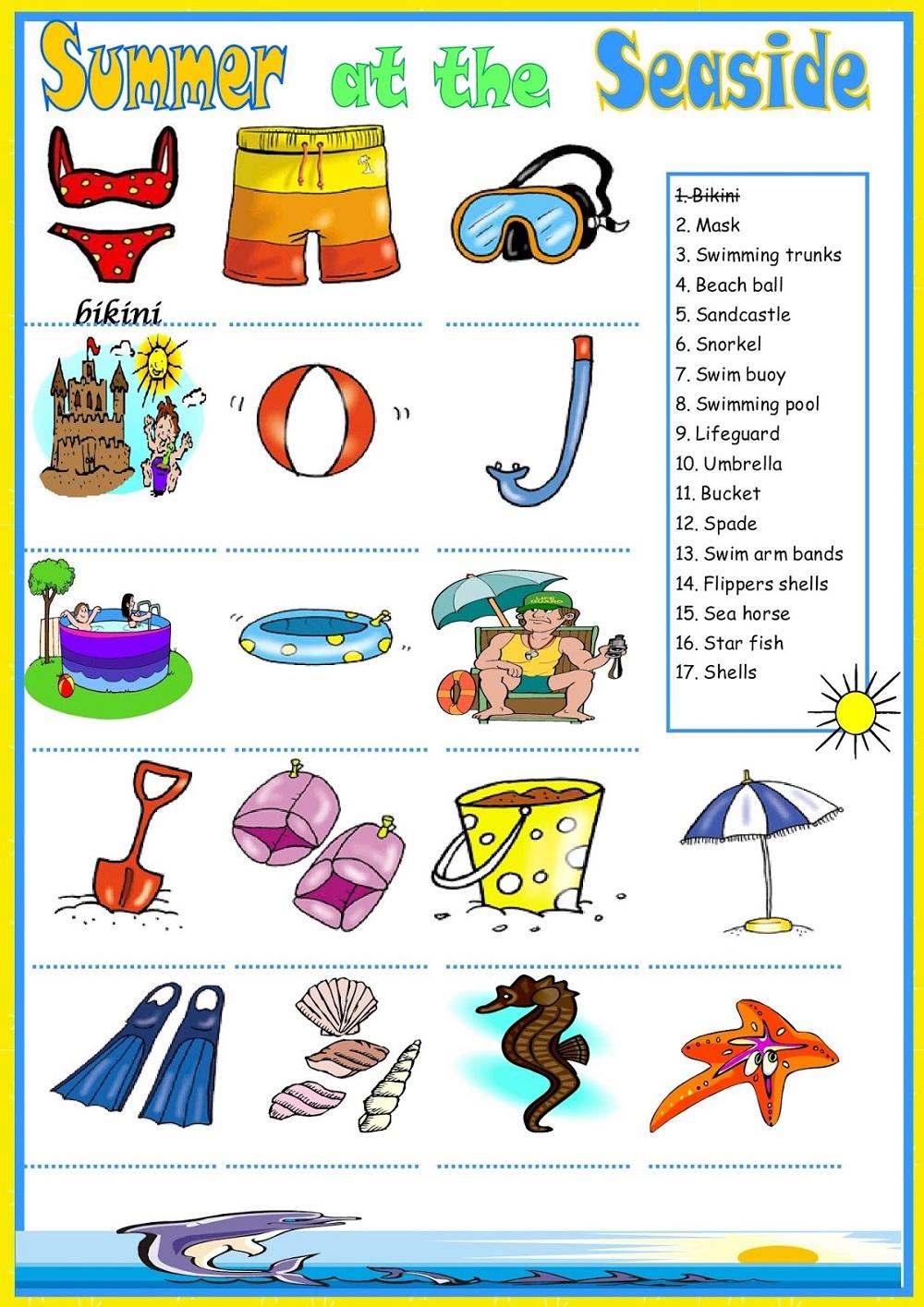 Summer Kids Activity Sheet
