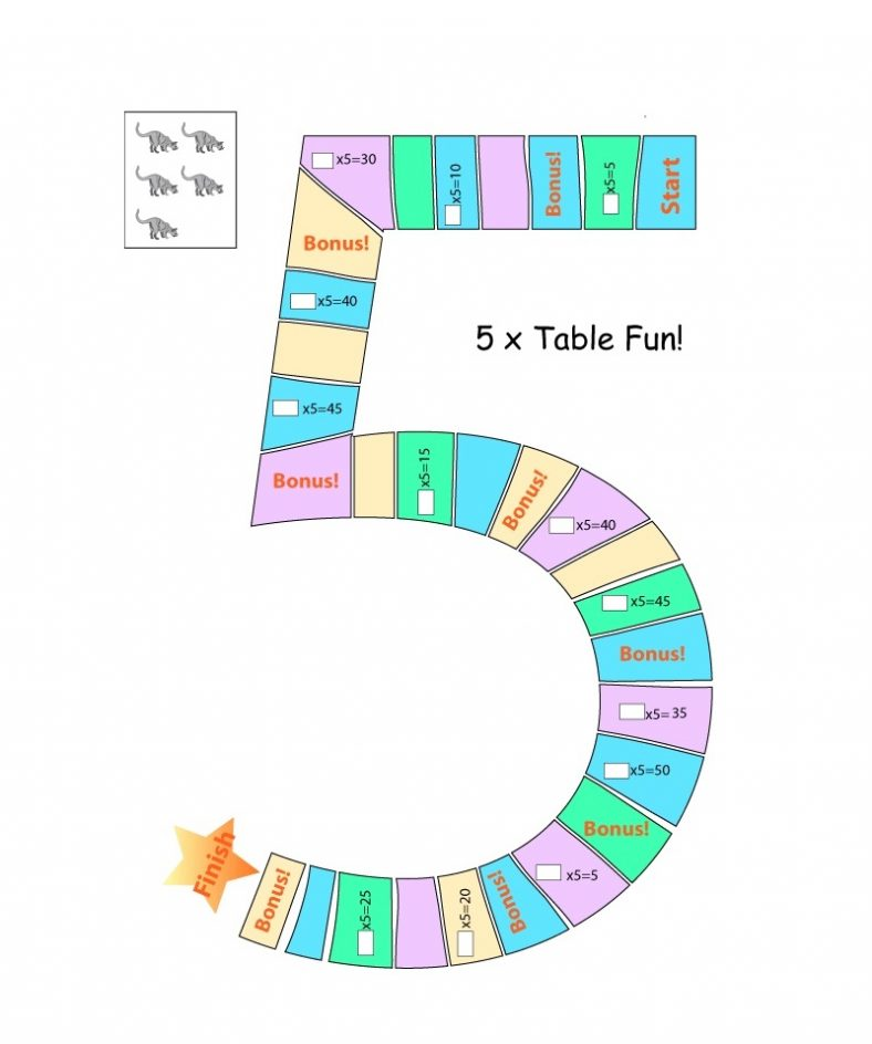 Fun 5 Times Table Worksheet