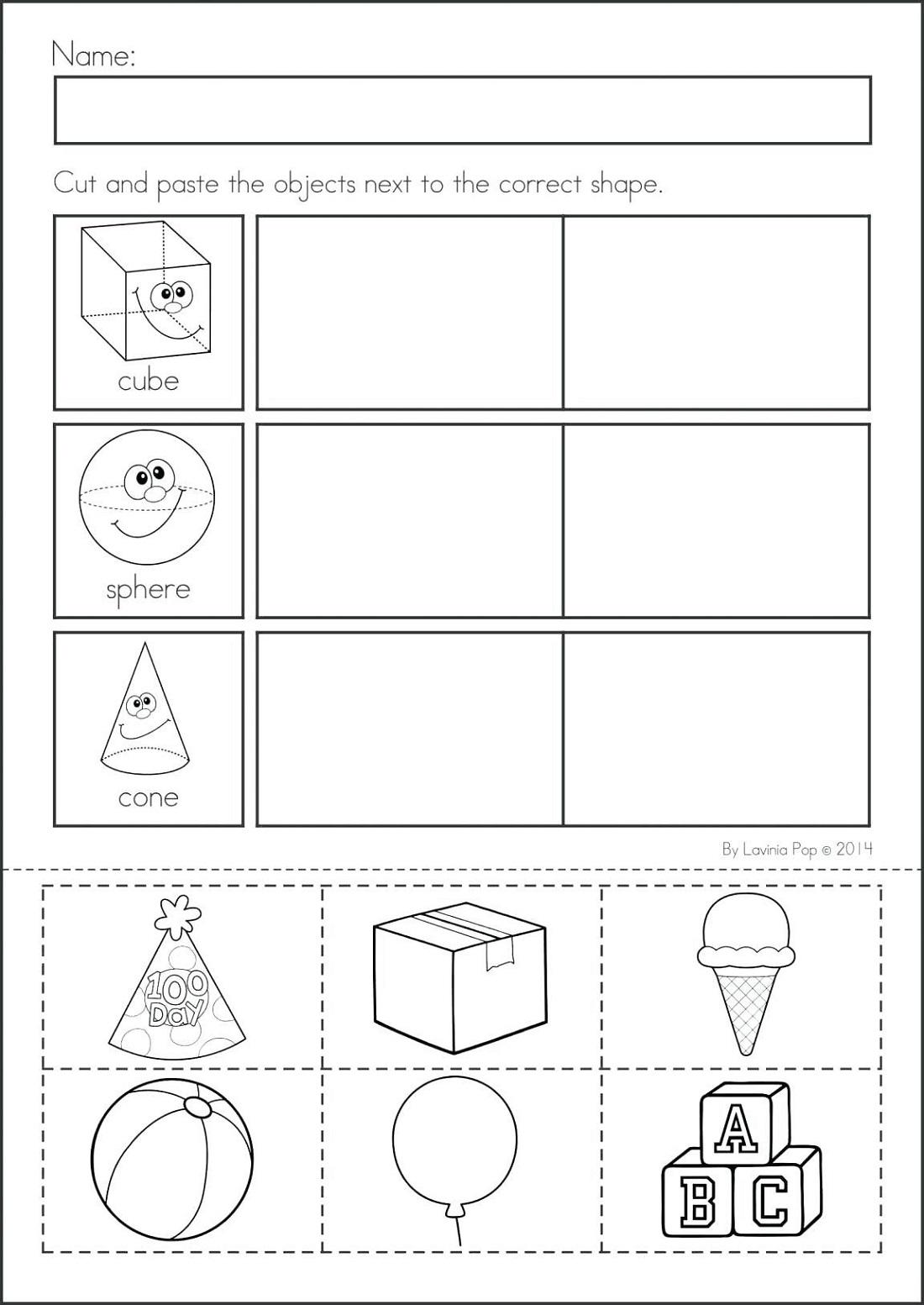 Fun Work Sheets for Kindergarten