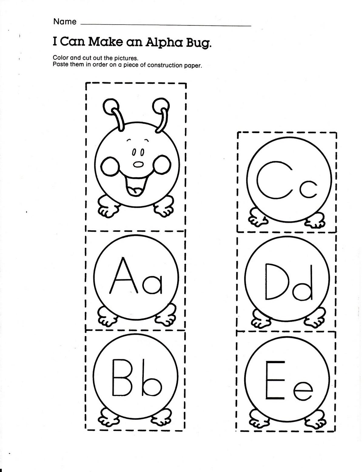 Alphabet Letter Worksheets for Kids