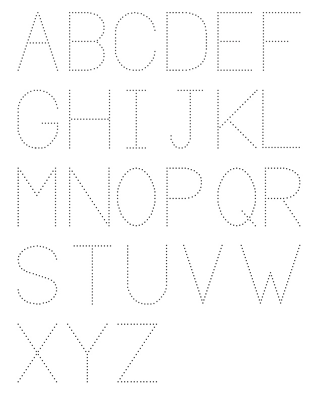Alphabet Printable Letters To Trace
