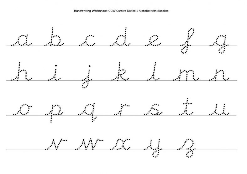 Cursive Printable Letters To Trace