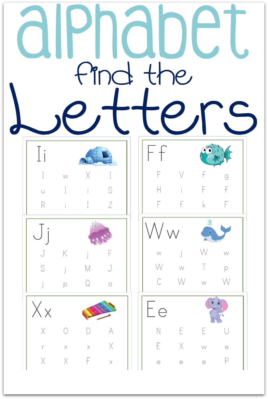 Find Alphabet Letter Worksheets