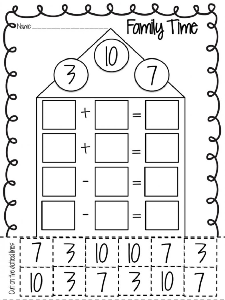 Free First Grade Fact Family Worksheets