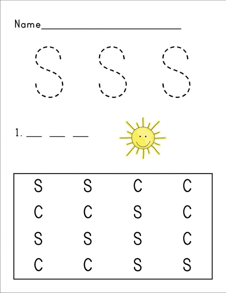 Free Letter S Worksheet