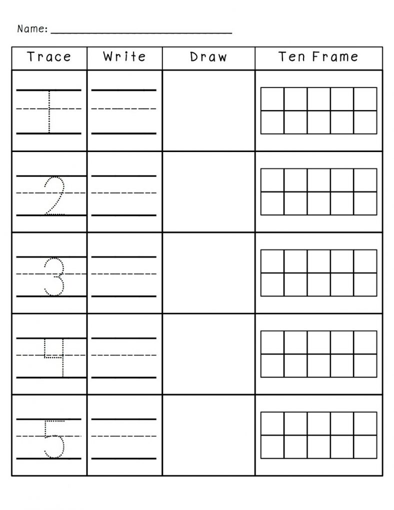Fun Writing Numbers Worksheet