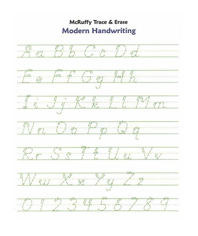 Handwriting Printable Letters To Trace