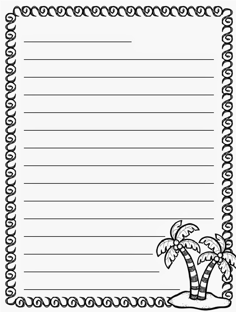 Summer Lined Paper For Writing