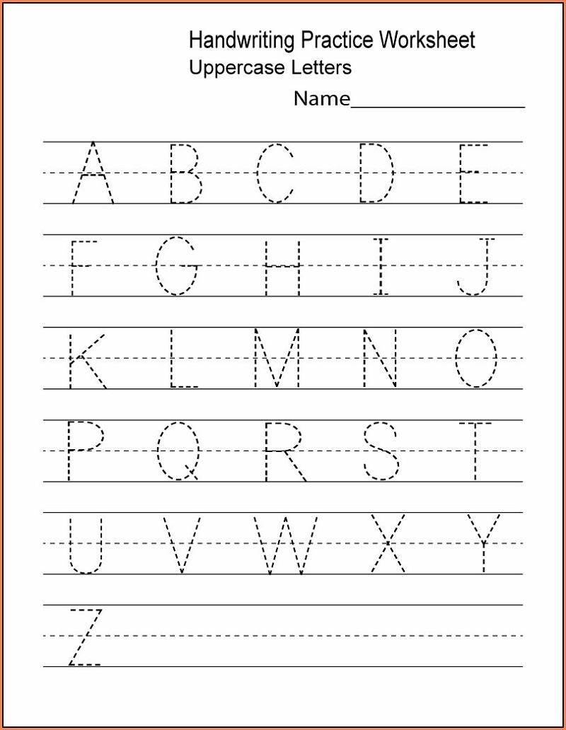 Uppercase Printable Letters To Trace