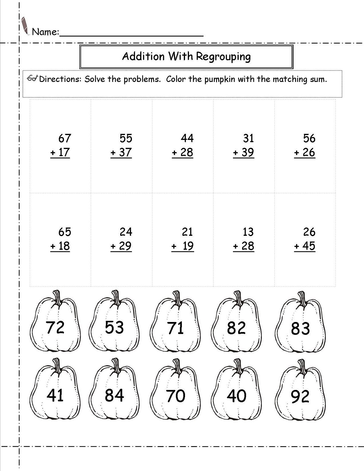Addition Math Is Fun Worksheets