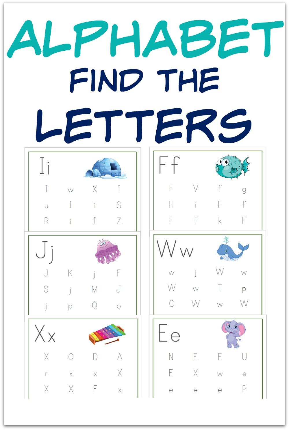 Alphabet Worksheets Free for Kids