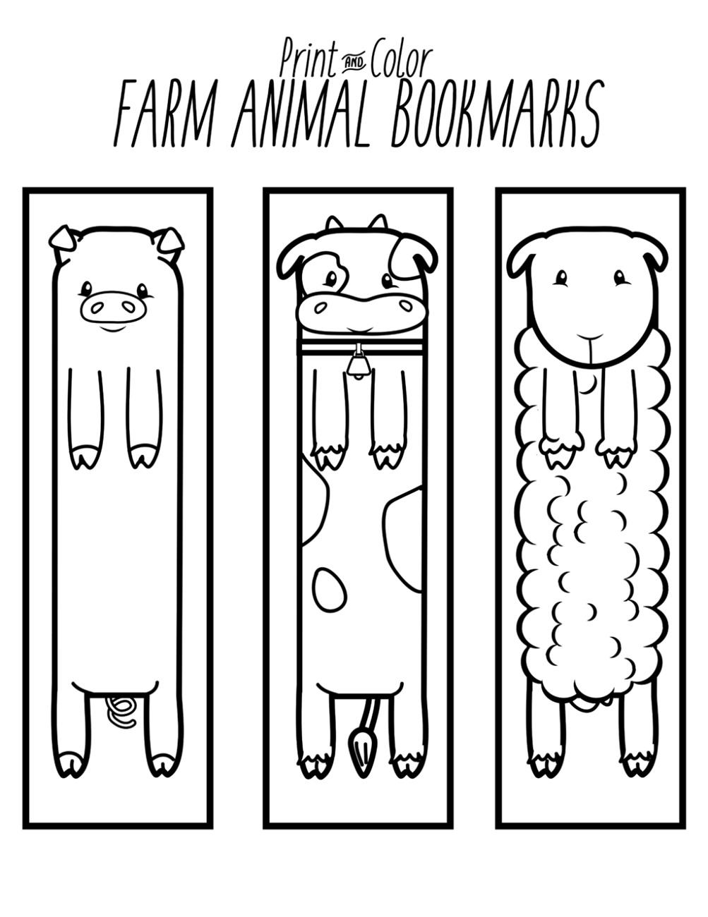 Animal Printable Bookmarks
