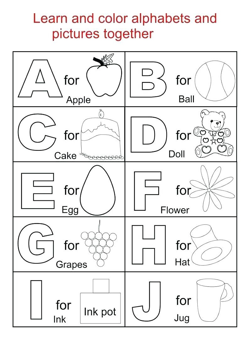 Coloring Alphabet Worksheets Free