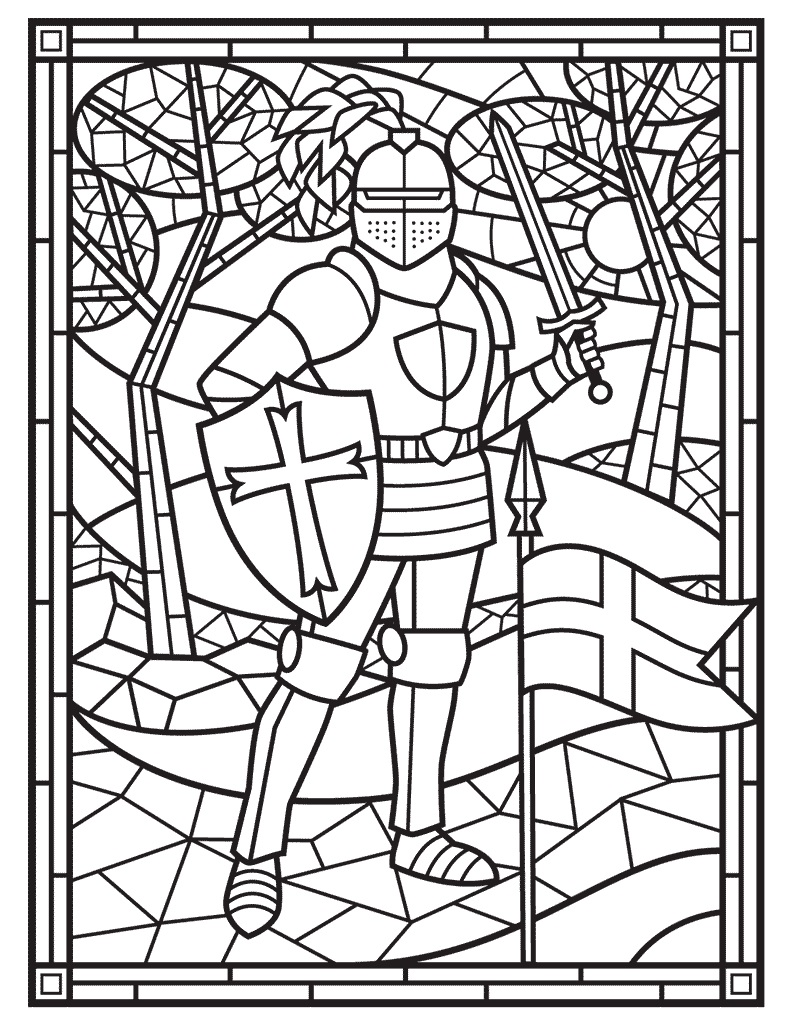 Coloring Middle Ages Activities For Kids