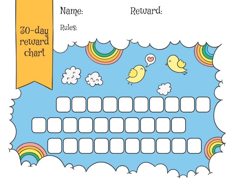 Cute Reward Chart Template