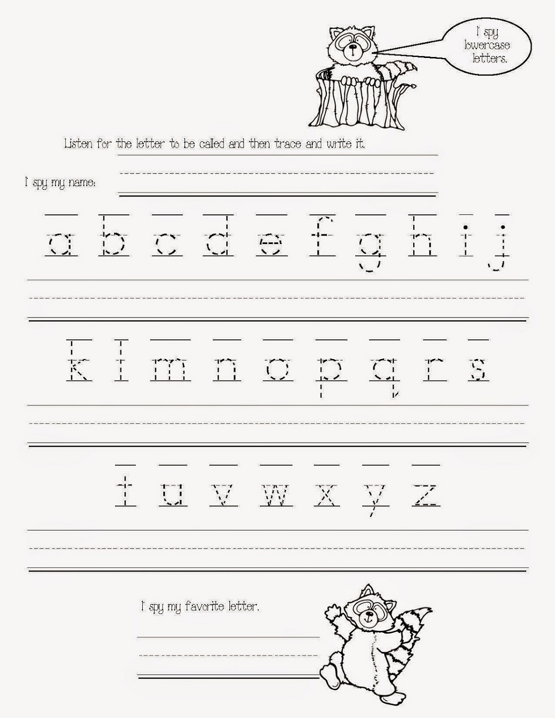 Free Traceable Alphabet Worksheets A-Z
