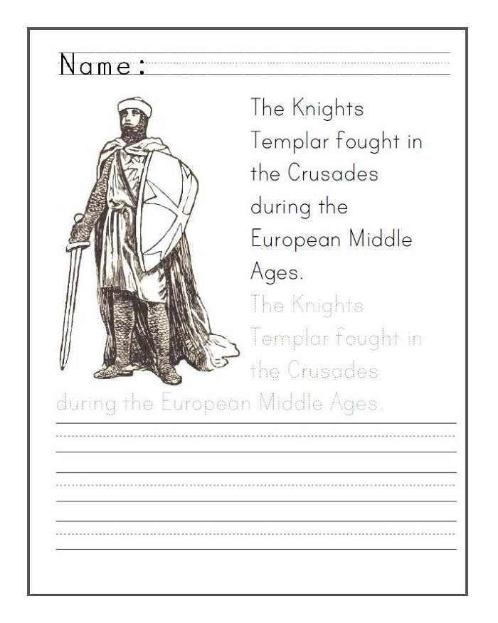 Printable Middle Ages Activities For Kids