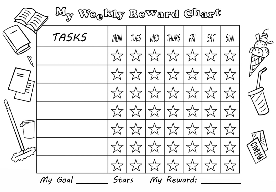Weekly Reward Chart Template