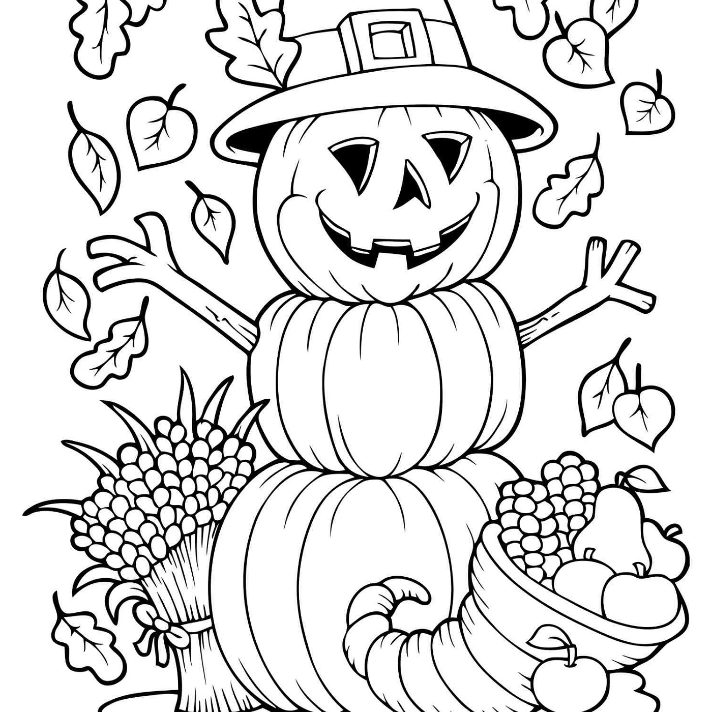 Autumn and Fall Coloring Pages