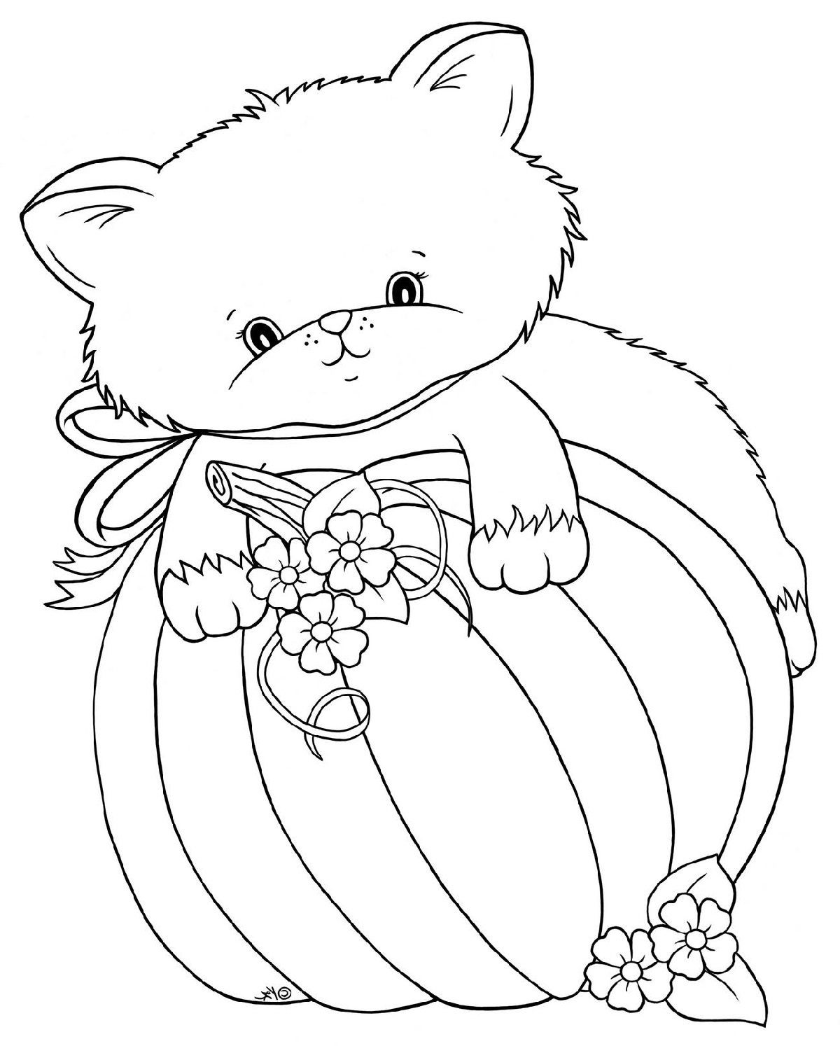 Cute Fall Coloring Pages