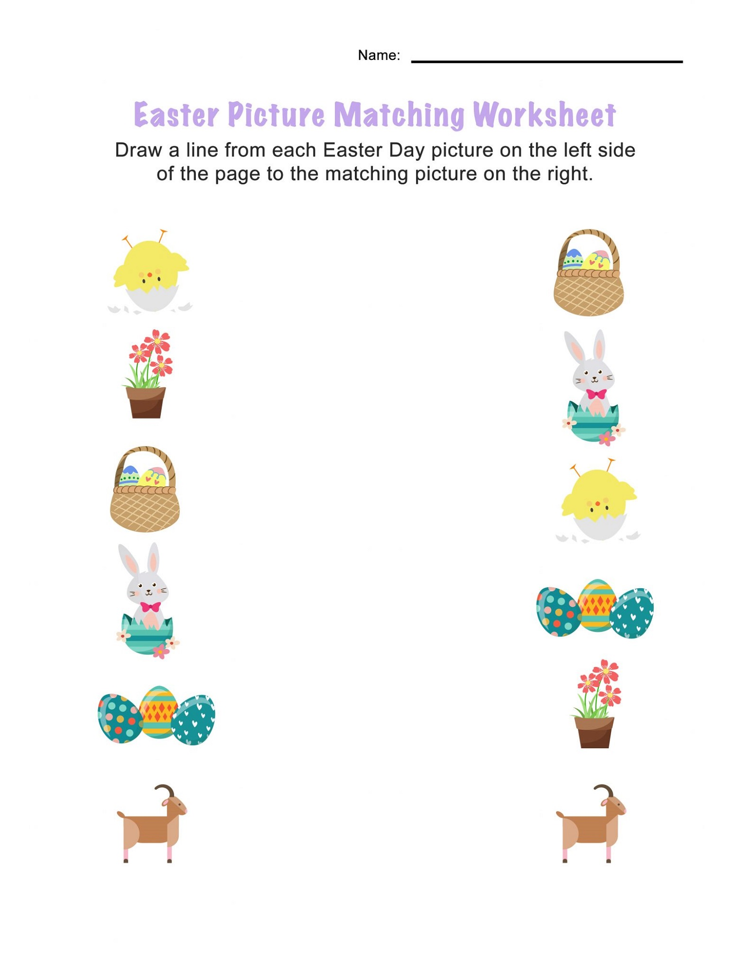 Easter Worksheets For 3 Year Olds