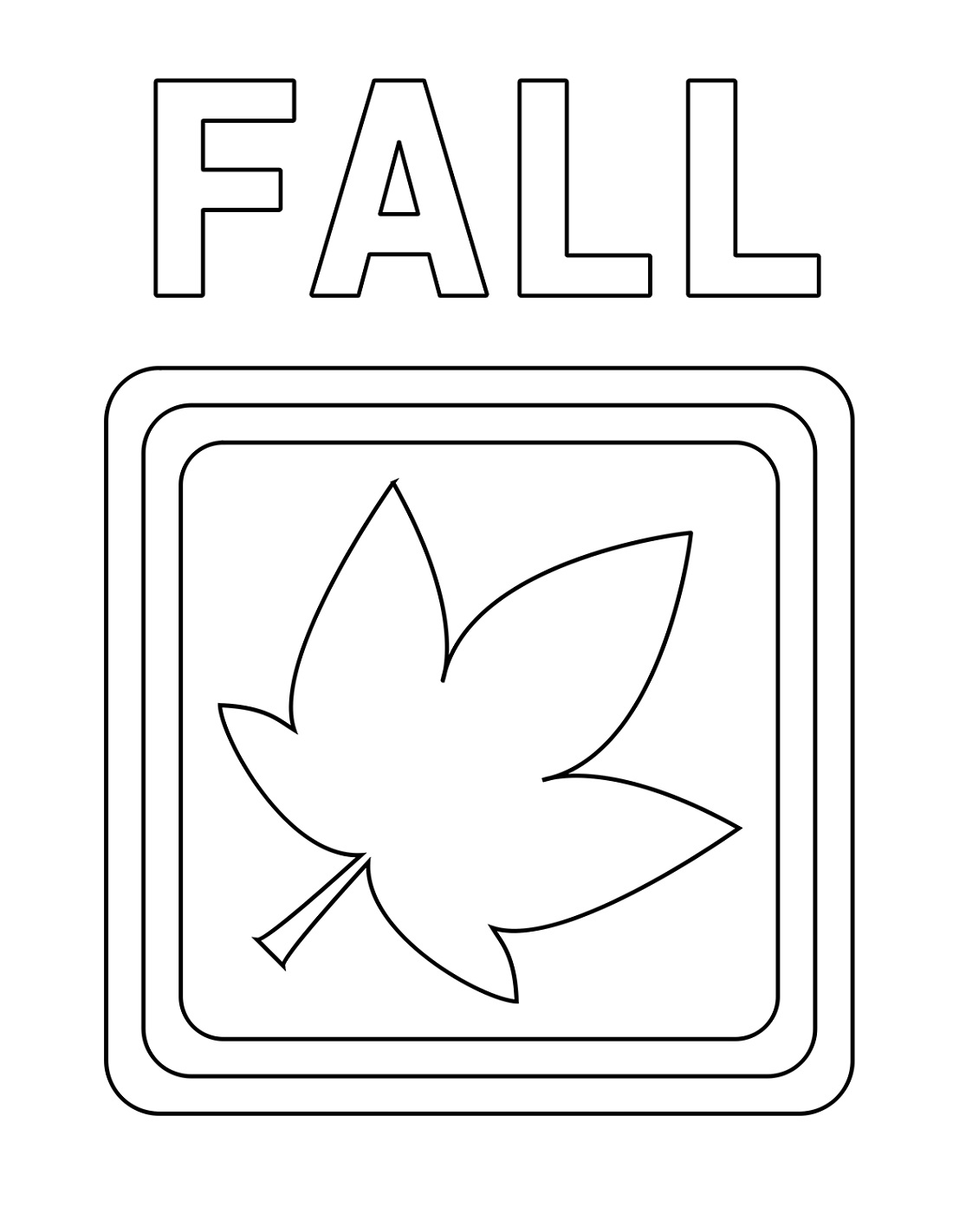 Easy Fall Coloring Pages