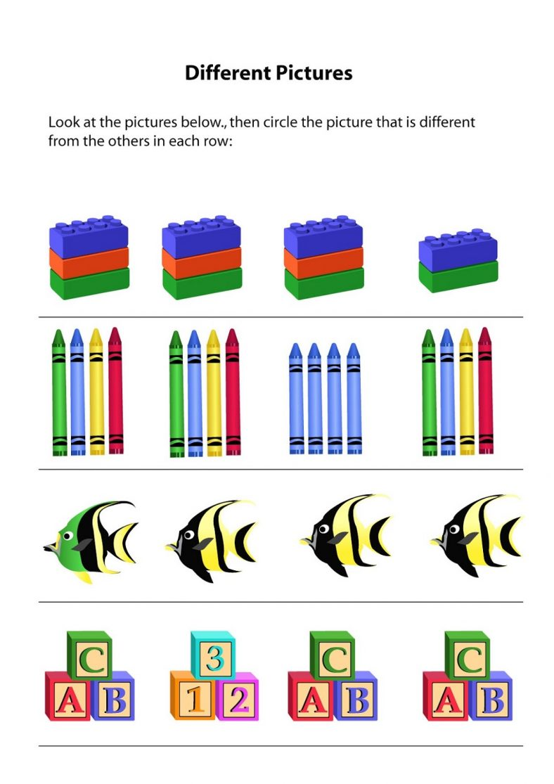 Free Same Or Different Worksheets