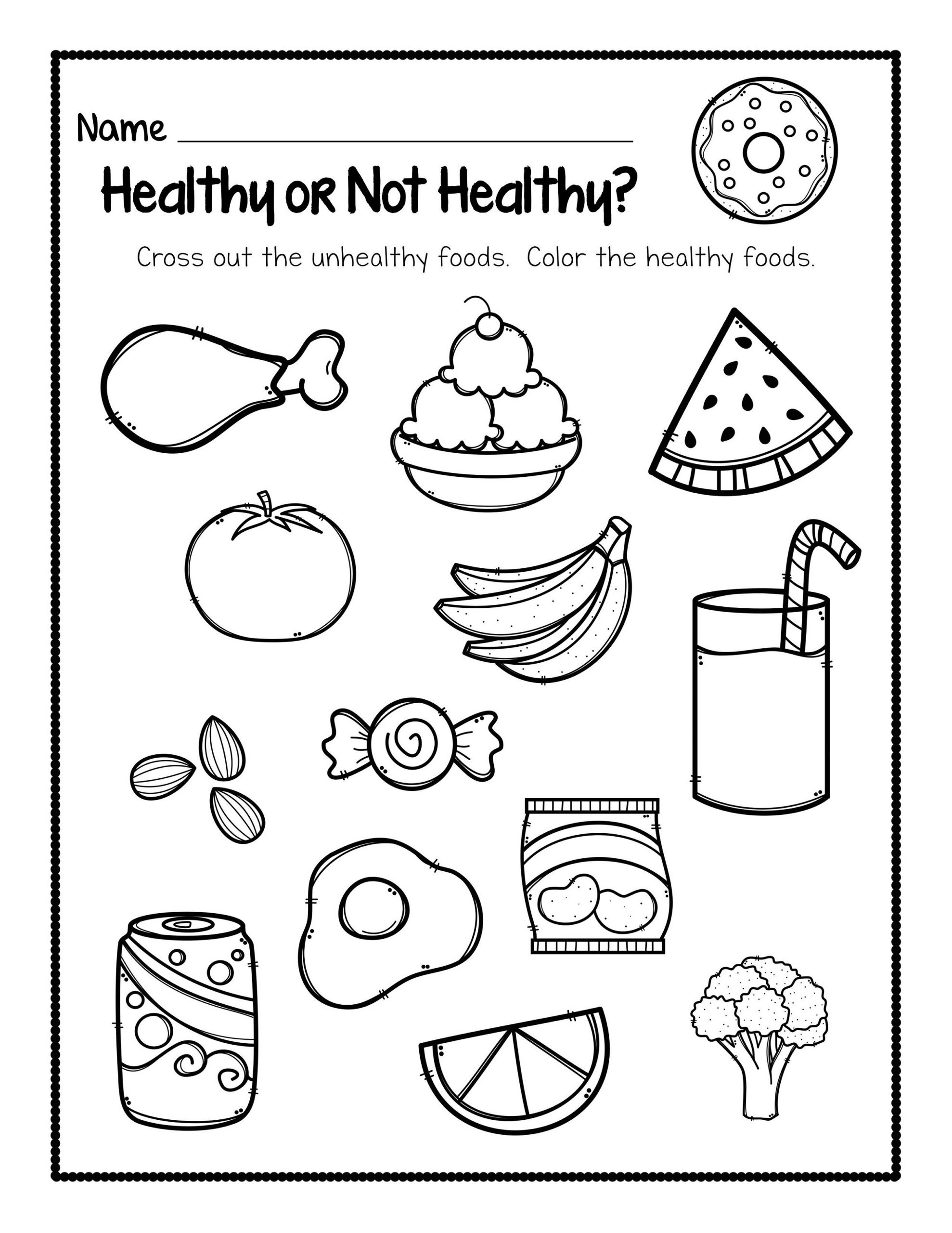 Healthy Food Worksheets for Fun