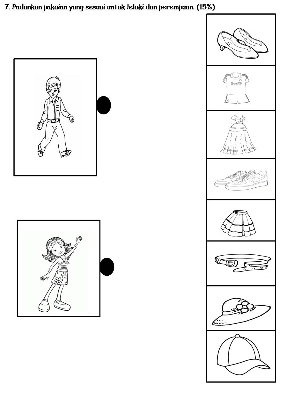 Match Worksheets For 5 Year Olds