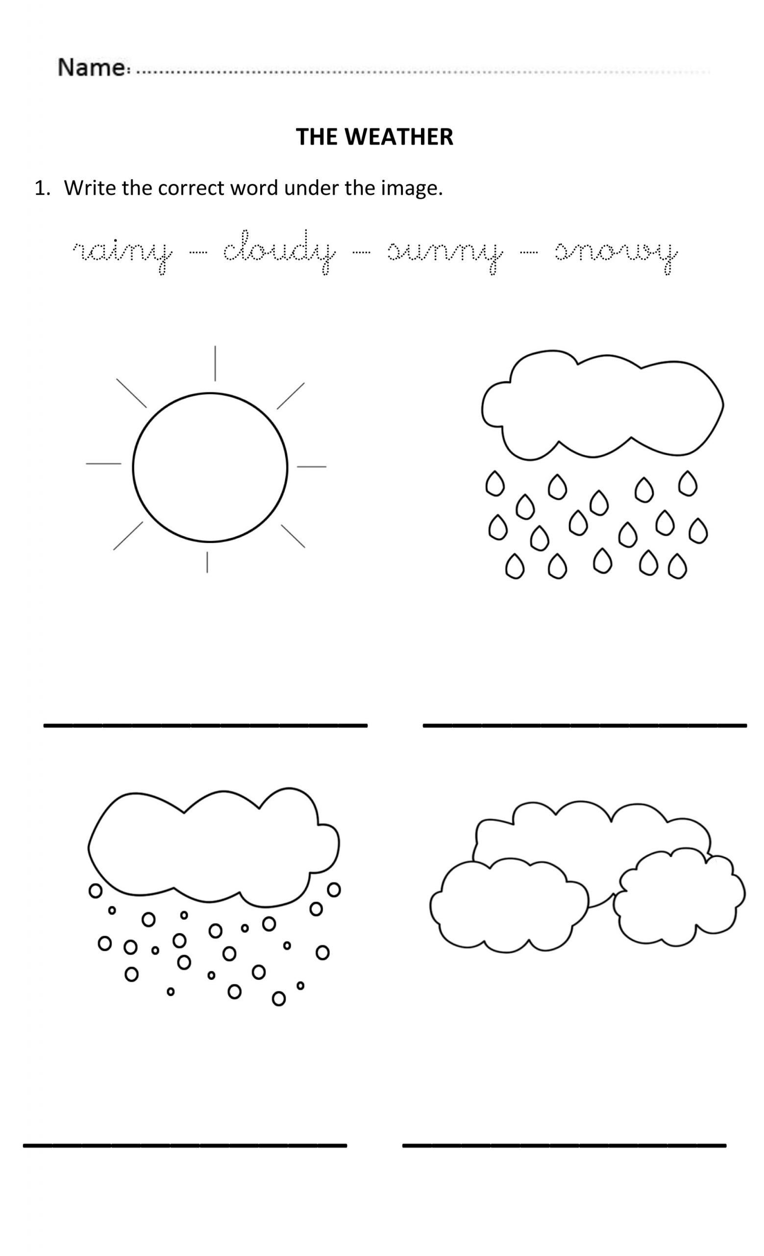 Weather Worksheets For 5 Year Olds