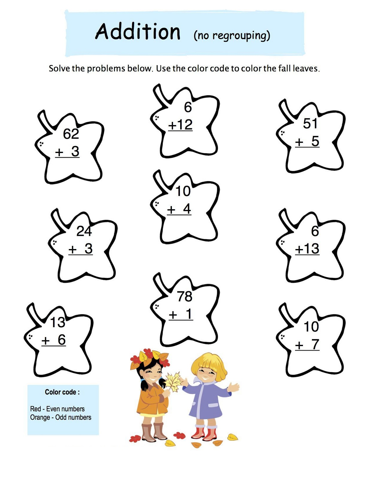 Coloring Even And Odd Number Worksheets