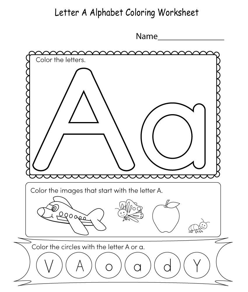 Coloring Letter A Printable