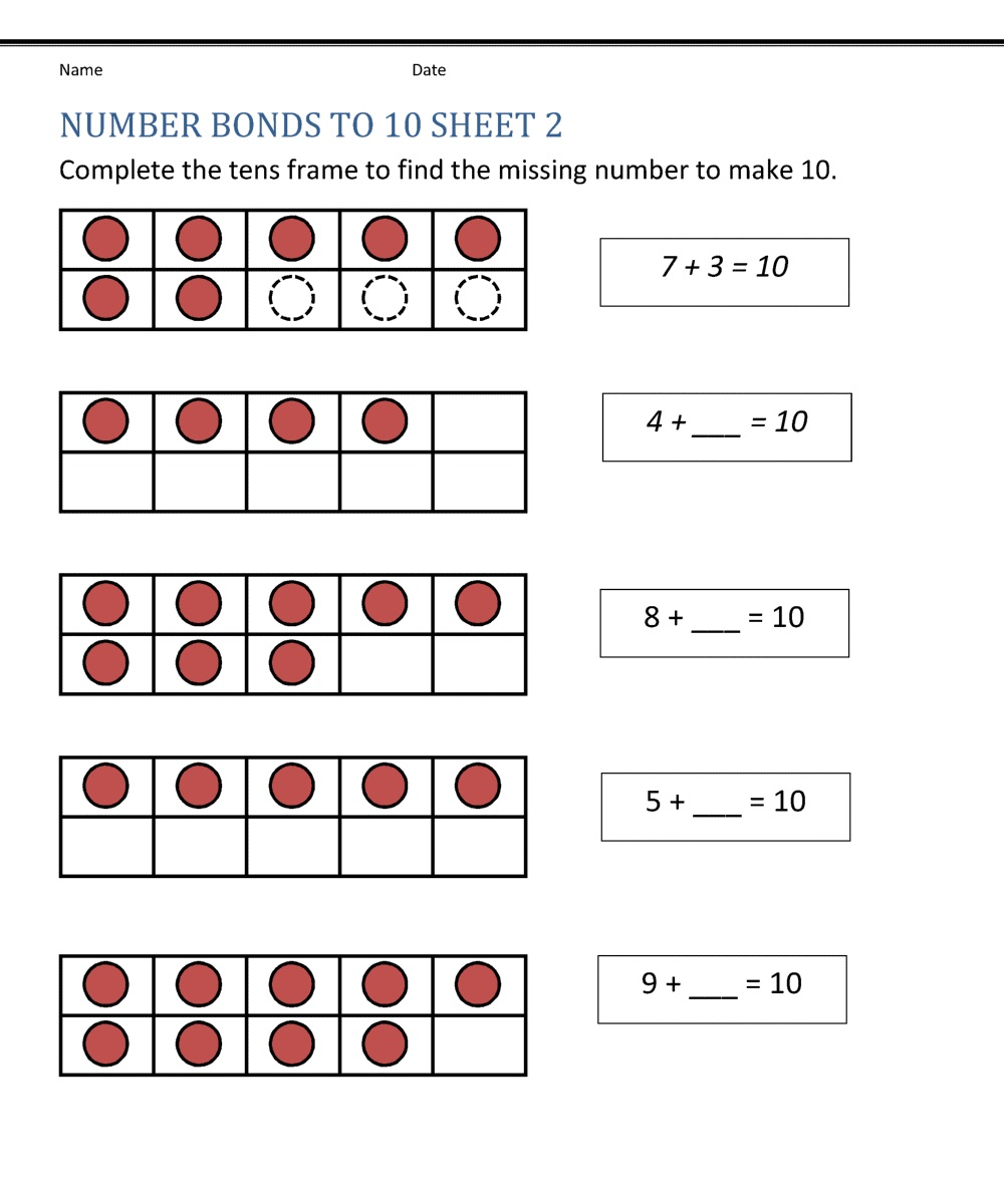 Counting Number 10 Worksheet