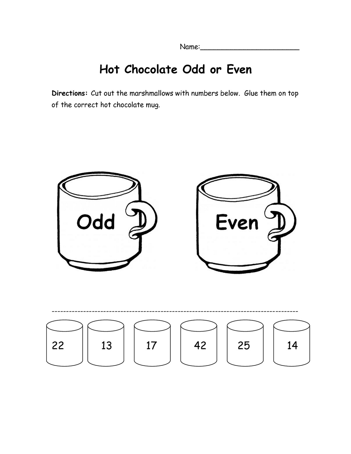 Free Even And Odd Number Worksheets