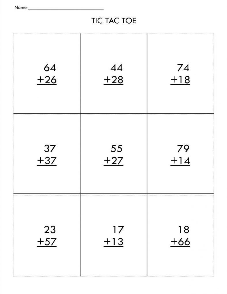 Fun Two Digit Math Worksheets