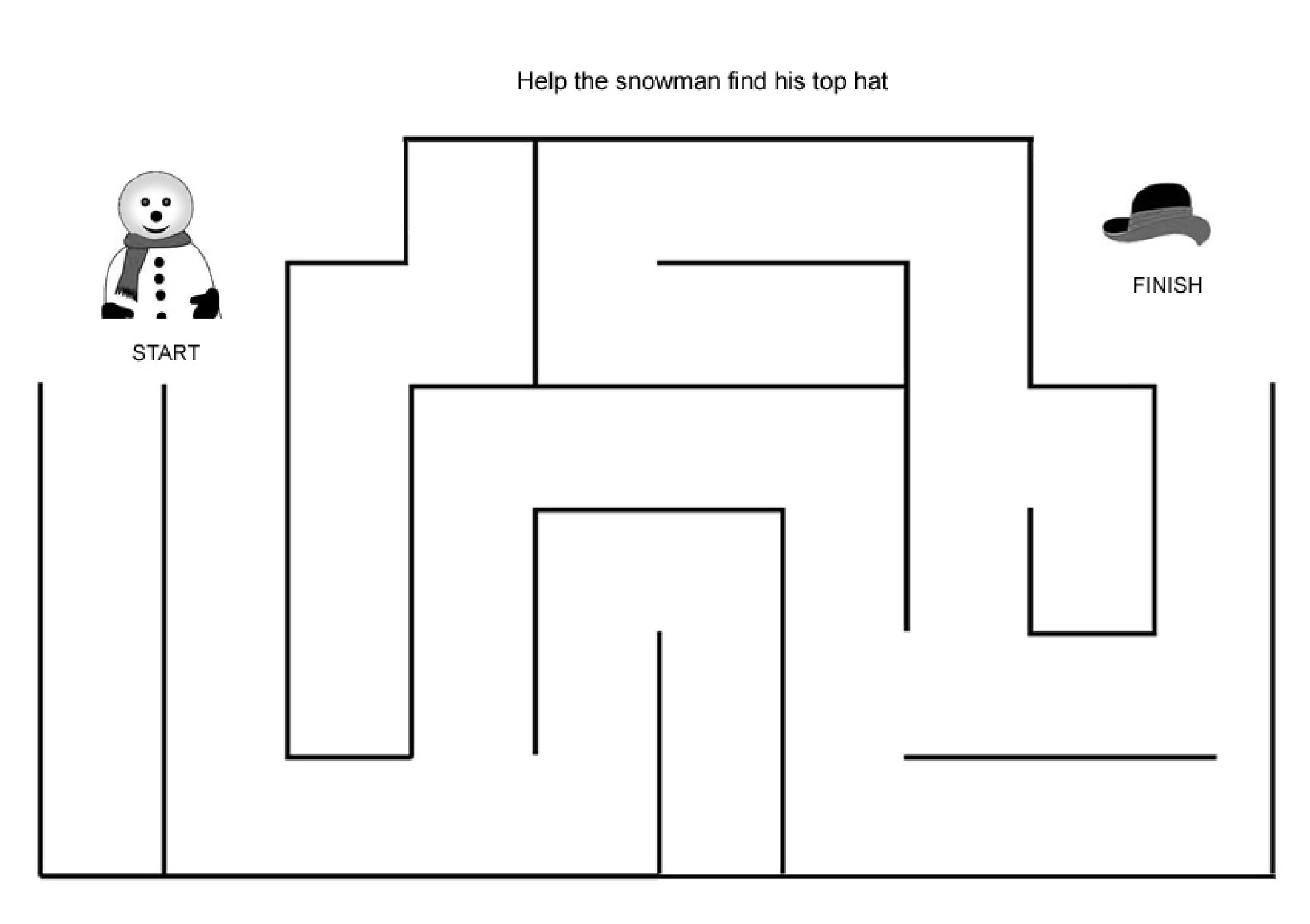 Maze Worksheets For Two Year Olds