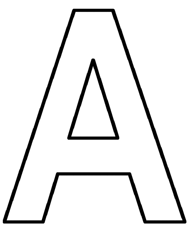 Simple Letter A Printable