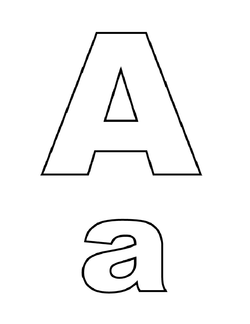 Uppercase and Lowercase Letter A Printable