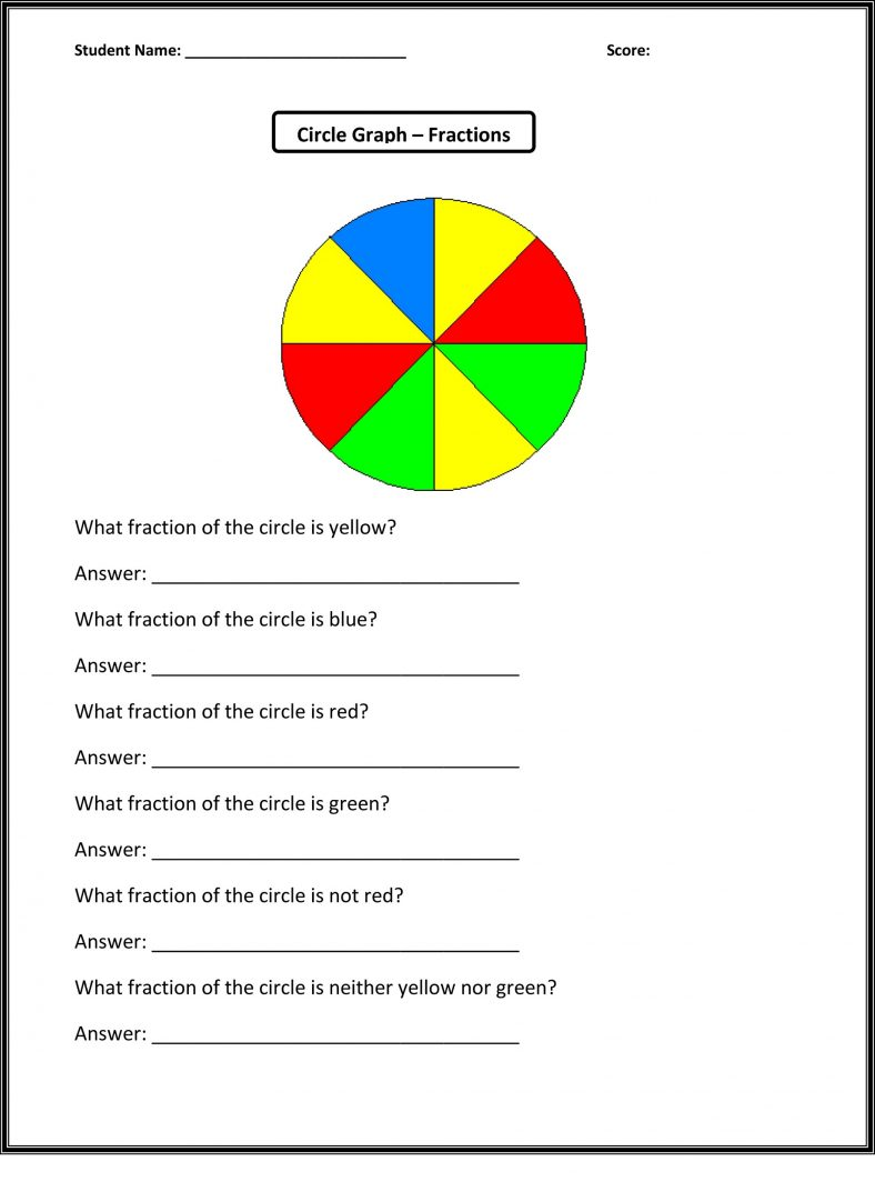 Fractions Math Worksheets for Grade 1