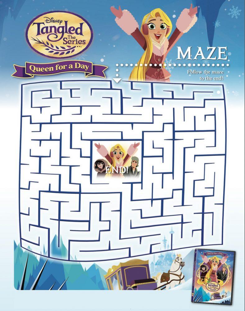 Maze Tangled Printables
