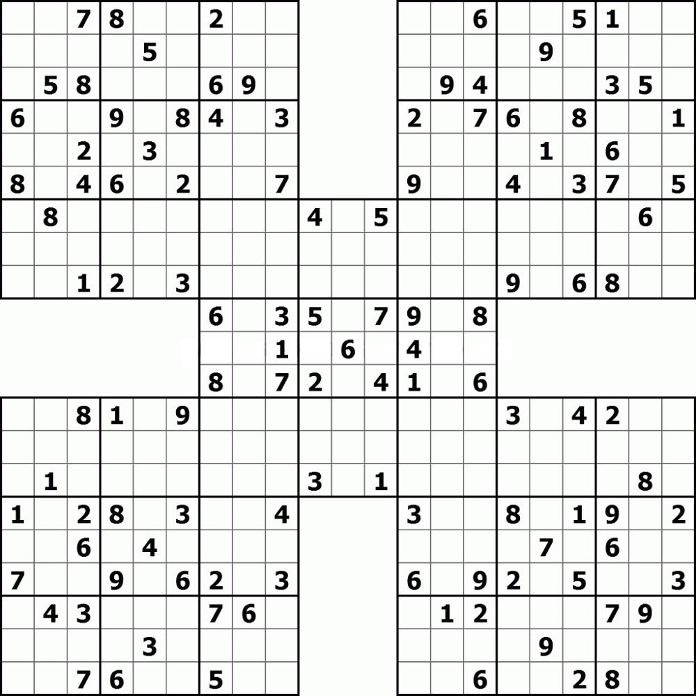 Printable Sudoku High Fives
