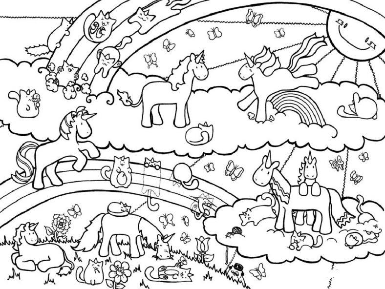Printable Unicorn Color Page