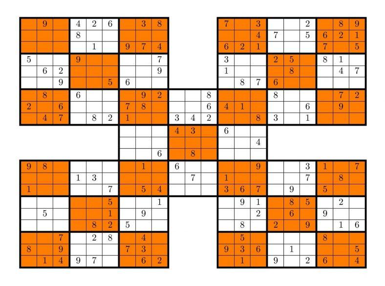 Sudoku High Fives Puzzles