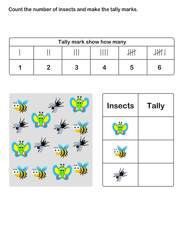 Count Tally Chart Worksheets