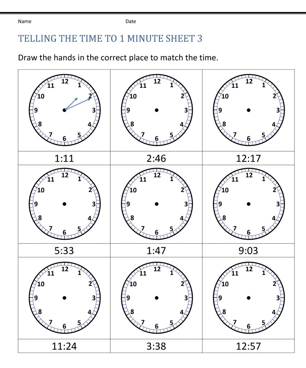 Free Blank Clock Face Worksheet