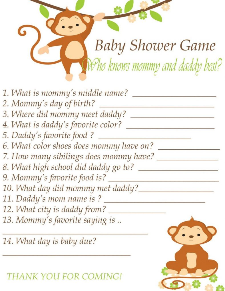 Fun Baby Shower Games To Print